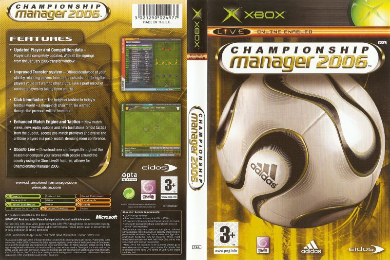 XBOX Championship Manager 2006